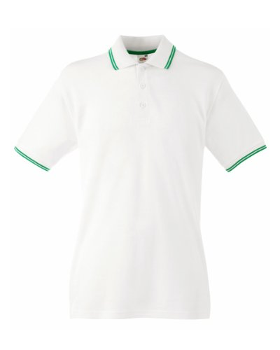 Fruit Of The Loom Herren-Poloshirt Gr. X-Large, weiß