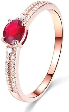 Bishilin Engagement Rings for Women Rose Gold half 18 Anniversary Ri A surprise price is realized