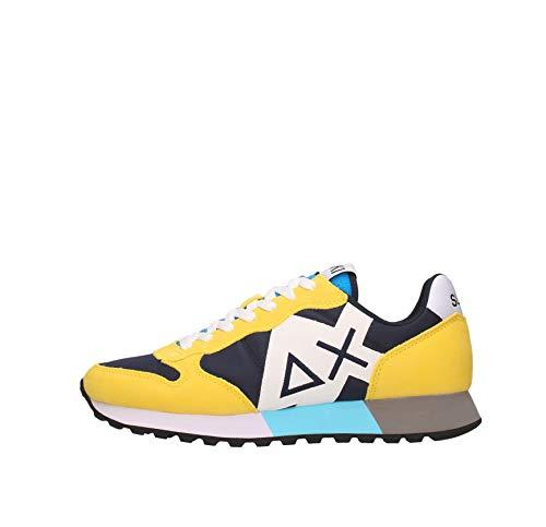 SUN 68 Sneakers Uomo Basse Z31113 0723 Jaki Party Time Navy Blue/Giallo Taglia 43 Navy Blu/Giallo