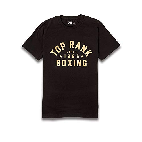 TOP RANK Boxing Est. 1966 Comfortable Crew Neck Athletic Tee Shirt, 100% Airlume Combed and...