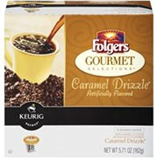 Folgers Gourmet Selections Caramel Drizzle K-Cups, 18 count(Case of 2)