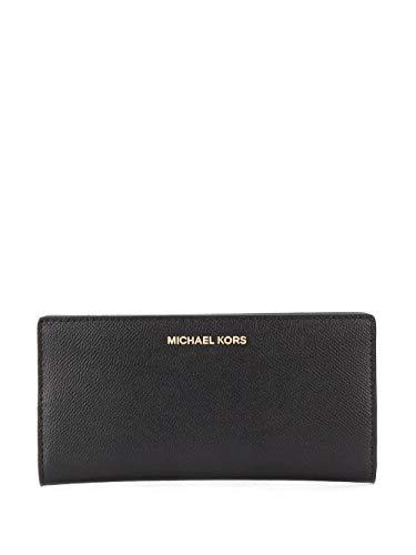 Luxury Fashion | Michael Kors Dames 34F9GJ6D3L001 Zwart Leer Portemonnees | Lente-zomer 20