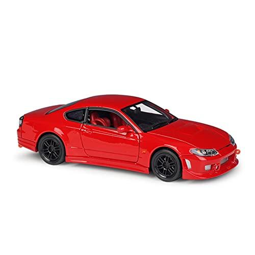 Coche en Miniatura del Reparto para Nissan Silvia S-15 Escala 1:24 Juguetes para Niños Diecast Alloy Metal Car Model Collection Coche De Simulación (Color : Rojo)