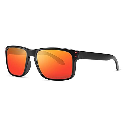 Amethyst Gafas de Sol polarizadas, Marco liviano, protección UV400, es Adecuado para Comprar Gafas Deportivas de conducción de Pesca,Naranja