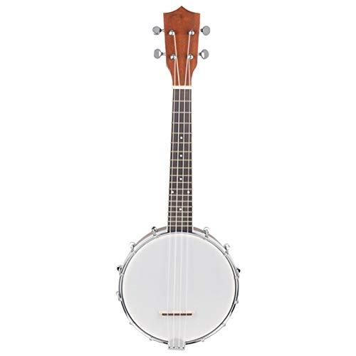 KEPOHK 23 Zoll Sapele Nylon 4 Saiten Konzert Banjo Uke Bass Gitarre Gitarre Für Musik Saiteninstrumente Liebhaber Geschenk 23 Zoll Weiß