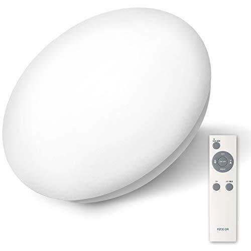AGLED LEDシーリングライト 調光 6畳 (日本照明工業会基準) 3200lm 直径45cm メーカー保証 リモコン付き アイリスオーヤマ 常夜灯 タイマー付き(10分/30分) 昼光色相当 明かりメモリ機能 10段階調光 省エネ 長寿命 簡単取付 PZCE-206D