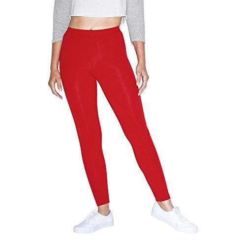 American Apparel Damen Cotton Spandex Jersey Leggings, rot, Klein