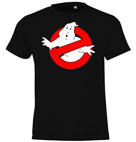 Kinder Jungen Mädchen T-Shirt Modell Ghostbusters - Schwarz 118/128 (8 Jahre)
