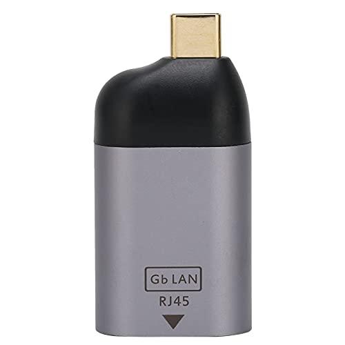 Adaptador RJ45 a Gigabit Tipo C Gigabit-RJ45 a Tipo C Gigabit Adaptador RJ45 LAN Compatible con MacBook Pro/DELL XPS