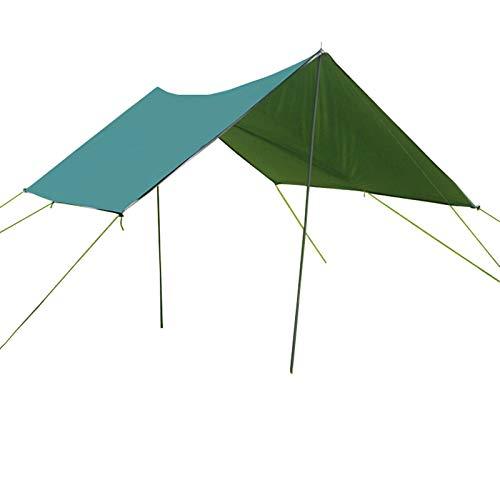 Lona Acampar, Vela Sombra para El Sol, Hamaca Lona para Toldo para Moscas De Lluvia, Portátil Impermeable Refugio para Acampar para La Nieve Sombrilla para Acampar Picnic Al Aire Libre (Green)