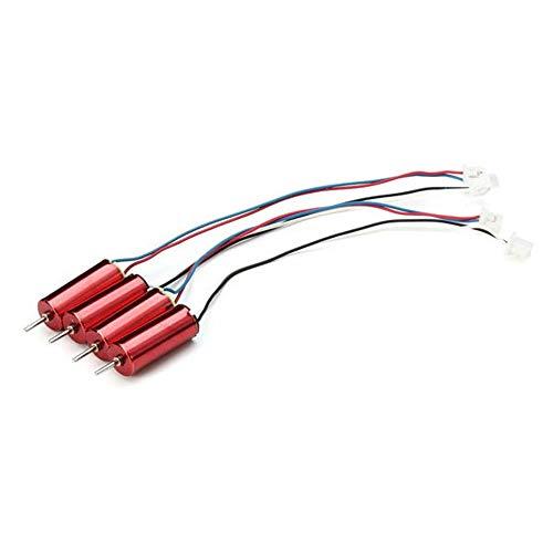 HJKH Piezas de Entrenamiento de Drones 4X 615 6x15mm 59000RPM sin núcleo Motor Compatible con Eachine E010C E010S Hoja Inductrix chillido Tiny (Color : Rojo, tamaño : Un tamaño)