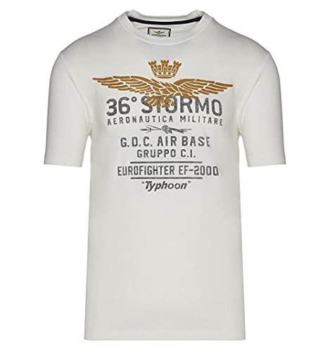 Aeronautica Militare Camiseta ts1867 - Color - Blanco, Talla - L
