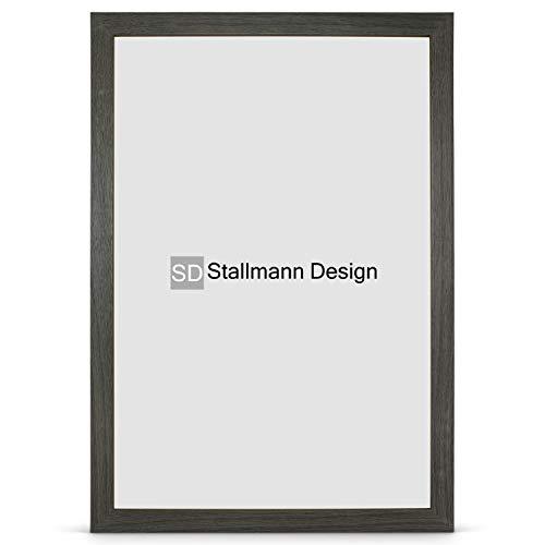 Stallmann Design Bilderrahmen New Modern 60x80 cm mooreiche Rahmen Fuer Dina 4 und 60 andere Formate Fotorahmen Wechselrahmen aus Holz MDF mehrere Farben wählbar Frame für Foto oder Bilder