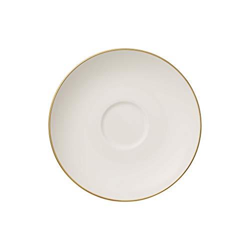 Anmut Gold Tee-Untertasse, Durchmesser 15 cm, Weiß/Gold