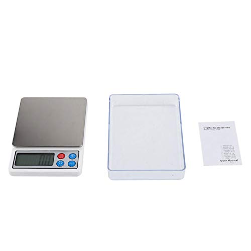 Telituny Electronic Scales-2KG/0.1g Portable Mini Digital Scales Electronic Balance High Precision for Measuring