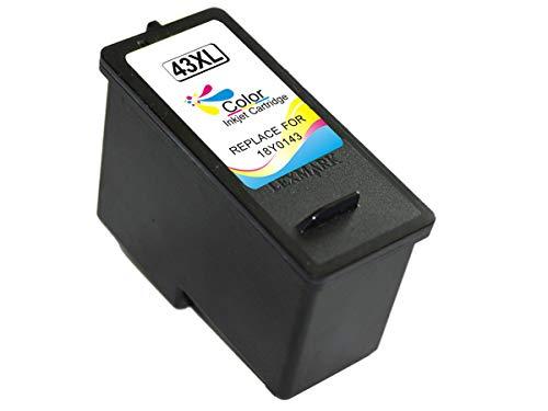 Lexmark 43XL/41 Color Cartucho de Tinta Generico - Reemplaza 18Y0143E/18Y0141E