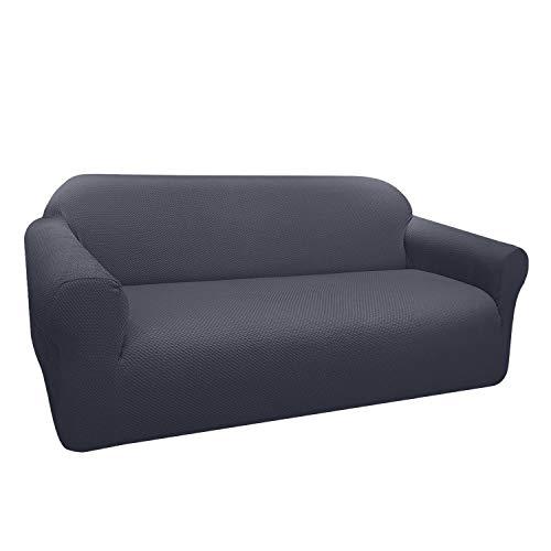 Granbest Funda de Sofá Elástica Súper Gruesa con Diseño Elegante Universal Funda Sofá 3 Plaza Antideslizante Protector Cubierta de Muebles(3 Plaza, Gris)