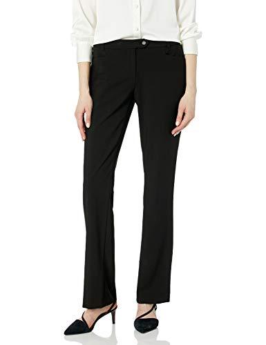 Calvin Klein Women's Modern Fit Suit Pant, Black, 4