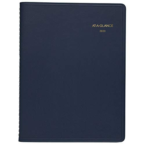 """AT-A-GLANCE 2020 Weekly Planner/Appointment Book, 5-1/2"""" x 8-1/2"""", Small, Blue (7007520)"""