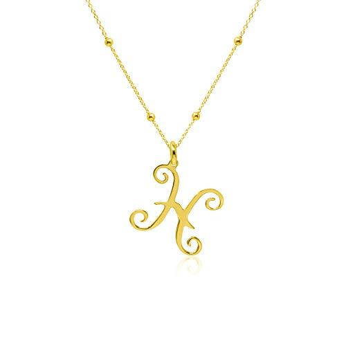 WANDA PLATA- Collar Símbolos del Zodíaco Piscis para Mujer Plata de Ley 925 con Baño de Oro, Colgante Horóscopo, Astrología