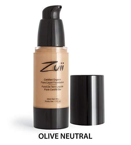 Zuii Organic Certified Liquid Foundation, Olive Neutral, 30 ml