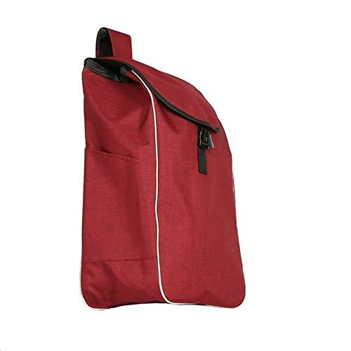 Carrito de supermercado plegable y ligero Bolsa de reemplazo de la bolsa de compras Bolso de carrito de compras con bolsillos laterales Bolsa de repuesto para carro, bolso de almacenamiento a prueba d