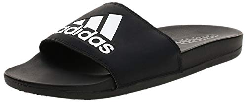 adidas Herren Adilette Cf+ Logo Dusch-& Badeschuhe, Schwarz (Cblack/cblack/ftwwht Cg3425), 44.5 EU