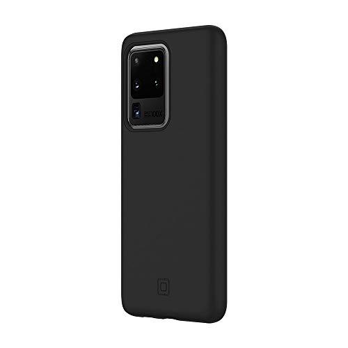 Preisvergleich Produktbild Incipio DualPro Cover für Samsung Galaxy S20 Ultra (5G) - von Samsung zertifizierte Hülle (schwarz) [Qi kompatibel I Robuste Handyhülle I Stoßabsorbierendes Case I Soft-Touch] - SA-1039-BLK