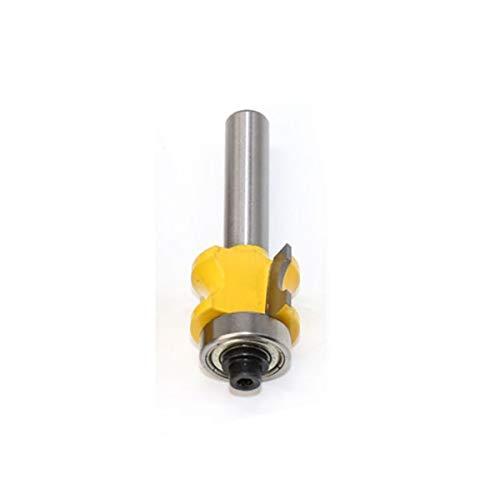 Gfpql WYanHua-Caña Redondeado Router bit Set, C3 Punta de carburo carpintería Cutter, 8 mm Vástago 1Pc, Accesorios para Herramientas de Bricolaje (Cutting Edge Length : NO1)