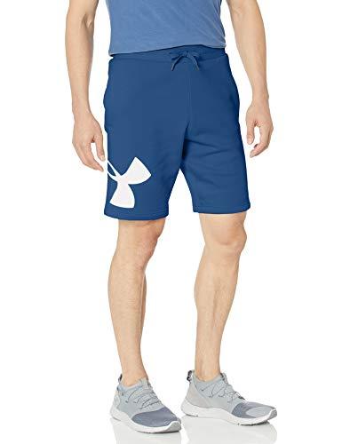 Under Armour Herren Rival Fleece Logo Shorts Hose, American Blue (449)/Onyx White, XXL