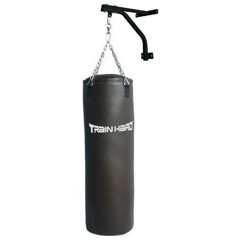 Hansson.Sports Boxsack gefüllt 30kg 100x33cm mit Wandhalter, Stahlkette & Drehwirbel