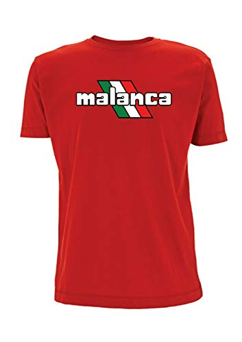 Malanca Motorfiets Geïnspireerd T Shirt Bologna Italië Vintage Fietsen Bromfiets Scooter Motor Biker Italiaanse vlag