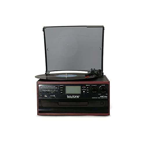 HMBB Bluetooth Record Player Turntable con CD, Cassette,...