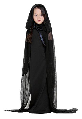 Bigood Costumes Déguisement Cosplay Fantôme Queen Impératrice Enfant pour Halloween XXS