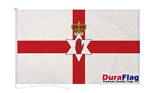 Duraflag Irlanda del Norte de 1,5 m x 3 m con cuerda y conmocionado – Calidad Premium 5 x 3 banderas de Irlanda del Norte