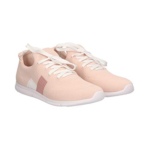 Tommy Hilfiger Knitted Flag Light Sneaker, Zapatillas Mujer, Rosa (Silver Peony 658), 36 EU