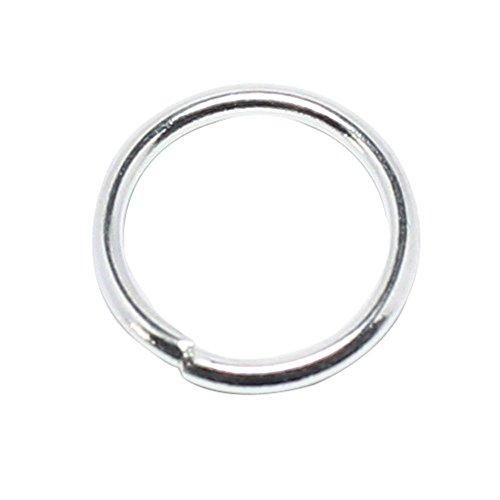 leegoal 100-Piece 4mm Silver Plated Open Jump Rings, 21-Gauge