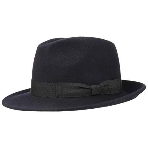 Lipodo Basic Bogart vilthoed - Bogart van 100% wolvilt - Wolvilthoed dames/heren - Fedora Made in Italy - Hoed zomer/winter - Wolhoed