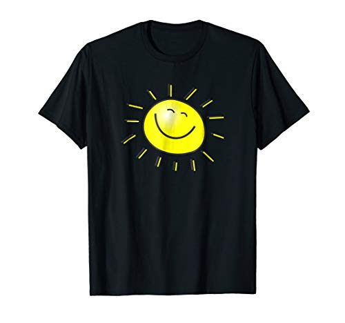 Smiley Face Sunshine Sun T-Shirt Kids Summer Happy Fun Smile