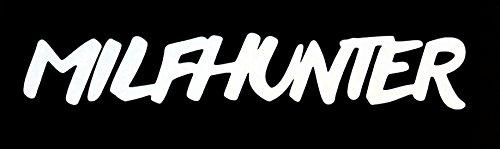 vinyl cut Milf Hunter Pegatinas, Vinilo, Milf,/17x 3cm, Puntas Calidad/Pegatinas/Auto Adhesivo, Mind. 7años Impermeable. Color a Elegir