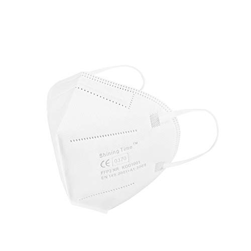 Shining Time Segurmed FFP2 Maske CE Zertifiziert Atemschutzmasken Partikelfiltermaske Mundschutzmaske Staubmaske EU 20 Stück