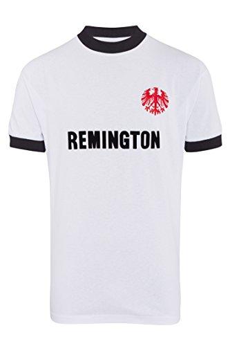 Score Draw Herren Retro - Trikot Eintracht Frankfurt | Retro Auswärtstrikot 1974 in Weiß, Größe: M