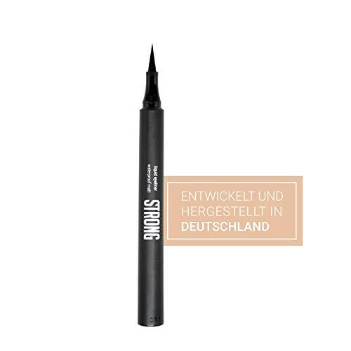 STRONG cosmetics® – Liquid Eyeliner Pen, Farbe: Schwarz I Sweatproof & Waterproof Eyeliner I...