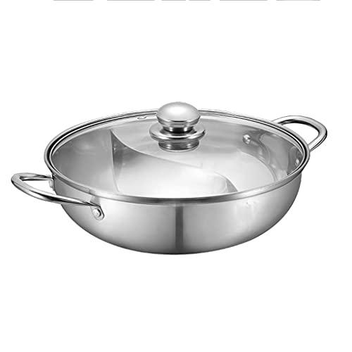 SHYOD Pentola Calda Tipo S Cucina Pentola Per Zuppa Pentola In Acciaio Inossidabile Pentola Per Cucina Pentola Per Zuppa Doppia Divisa (Size : 30cm)