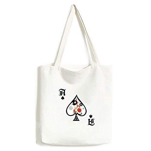 Dier huisdier liefhebber schattig kat handtas Craft Poker Spade wasbare tas