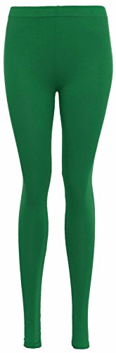 Islander Fashions Damen Plain Voller L�nge Legging Damen Stretchy Viskose Plus Size Hosen Hose Jade Green X Gro�e EU 44-46