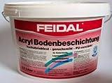 Feidal Acryl Bodenbeschichtung / Kieselgrau RAL 7032 / seidenglänzend / 2,5 l / für hochabriebfeste Fußbodenbeschichtung auf Beton, Estrich und ähnlichen Untergründen, Kellerräumen, Lagerhallen, Werkstätten und vieles mehr