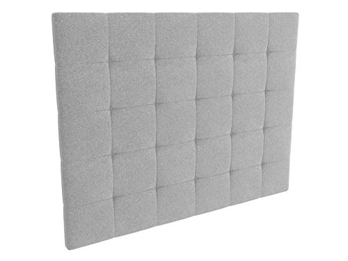 LA WEB DEL COLCHON - Cabecero tapizado Celio para Cama de 150 (160 x 120 cms) Gris Claro Textil Suave