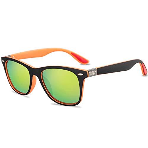N-B DC Gafas de Sol Unisex de Metal polarizadas cuadradas con protección UV400, aptas para Deportes al Aire Libre 3029H