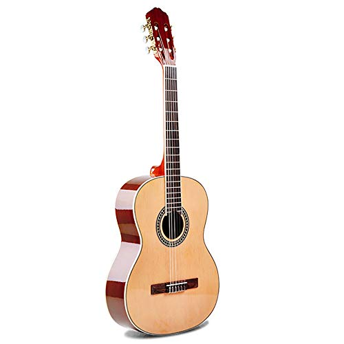 Regalo de Música Infantil Principiante 36 Pulgadas Guitarra Clásica Spruce Sapele Material Brillante Junior Guitarra Guitarra para Principiantes (Color : Wood Color, Size : 36inch)